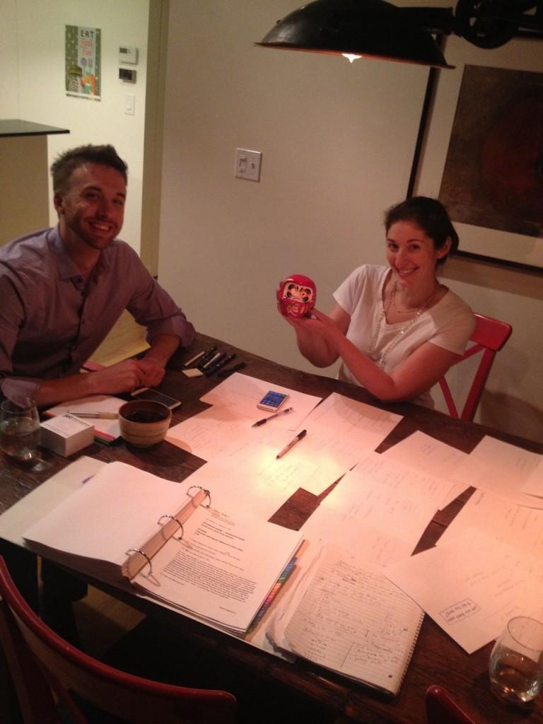 Dan, Elizabeth, and I working on TT